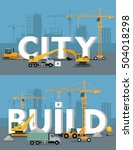 city build vector concepts.... | Shutterstock .eps vector #504018298