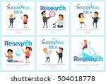 successful idea and research...   Shutterstock .eps vector #504018778