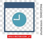 vector clock calendar page eps... | Shutterstock .eps vector #504019546