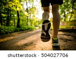 marathon run shoe. outdoor... | Shutterstock . vector #504027706