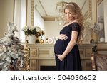 beautiful pregnant woman in a... | Shutterstock . vector #504030652
