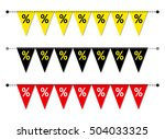 eye catching set of sale... | Shutterstock .eps vector #504033325