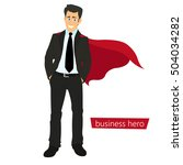 superman business. a man in a... | Shutterstock .eps vector #504034282