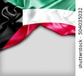 kuwait country flag on white... | Shutterstock . vector #504035032