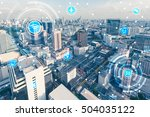blue high tech tone of... | Shutterstock . vector #504035122