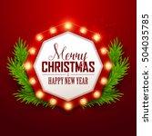 christmas background. retro... | Shutterstock .eps vector #504035785