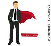 superman business. a man in a...   Shutterstock .eps vector #504035926