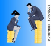 gender inequality on payment... | Shutterstock .eps vector #504040276