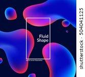 fluid colors shape on black.... | Shutterstock .eps vector #504041125