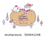 set of funny santa... | Shutterstock .eps vector #504041248