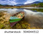 landscape with boat at the... | Shutterstock . vector #504044512