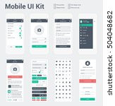 mobile ui kit for app... | Shutterstock .eps vector #504048682