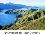 View over French Pass, Marlborough Sounds.New Zealand. Te Aumiti / French Pass separates D