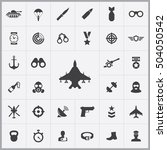 army icons universal set for... | Shutterstock . vector #504050542