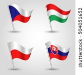 set of flags v4 visegrad group  ... | Shutterstock .eps vector #504051652
