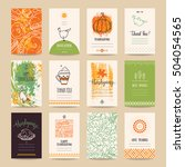 thanksgiving poster  banner ...   Shutterstock .eps vector #504054565