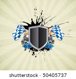 racing sign on the ray... | Shutterstock .eps vector #50405737