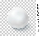 realistic snow ball isolated on ... | Shutterstock .eps vector #504057775
