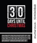 countdown to christmas flip... | Shutterstock .eps vector #504060868