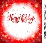 red festive card | Shutterstock .eps vector #504061762