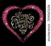 happy valentines day text... | Shutterstock . vector #504063106