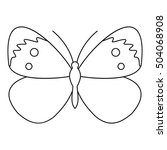 copper butterfly icon. outline... | Shutterstock .eps vector #504068908