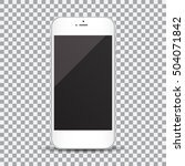 smartphone with blank screen on ... | Shutterstock .eps vector #504071842