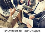 business people discussion... | Shutterstock . vector #504076006