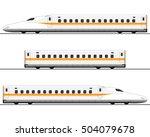 passenger express train.... | Shutterstock .eps vector #504079678
