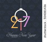 year 2017 greeting card  black... | Shutterstock .eps vector #504081436