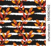 elegant seamless pattern with...   Shutterstock .eps vector #504082402