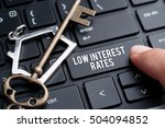 low interest rates  decision... | Shutterstock . vector #504094852