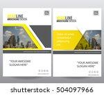 modern elegance annual report... | Shutterstock .eps vector #504097966