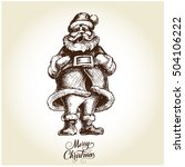 santa claus . hand drawn... | Shutterstock .eps vector #504106222