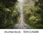 biker is riding a motorcycle on ... | Shutterstock . vector #504114688