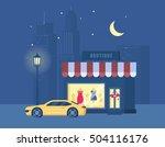 vector illustration of boutique ... | Shutterstock .eps vector #504116176