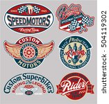 vector motor patches collection ... | Shutterstock .eps vector #504119302
