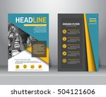 formal business brochure flyer... | Shutterstock .eps vector #504121606