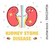 kidney stone disease awareness...   Shutterstock .eps vector #504124936