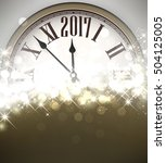 2017 new year shining... | Shutterstock .eps vector #504125005
