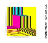 colorful trend neo memphis... | Shutterstock .eps vector #504136666