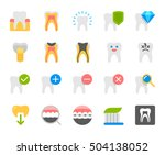 dental care flat icon | Shutterstock .eps vector #504138052