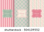 cute floral seamless pattern... | Shutterstock .eps vector #504139552