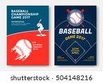 baseball game modern sports... | Shutterstock .eps vector #504148216