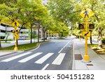 pedestrian crossing in the city.... | Shutterstock . vector #504151282