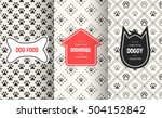dog seamless pattern background.... | Shutterstock .eps vector #504152842