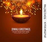 colorful bright happy diwali... | Shutterstock .eps vector #504158746