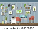 illustration of interior... | Shutterstock .eps vector #504163456