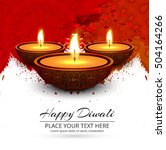 colorful bright happy diwali... | Shutterstock .eps vector #504164266