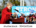 Small photo of Sen. Elizabeth Warren, D-Massachusetts, campaigns for Hillary Clinton at St. Anselm College in Manchester, N.H., on Oct. 24, 2016.